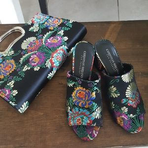 Gorgeous Floral Embroidered Mules